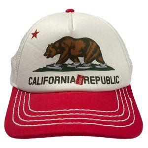 Vans California Republic Red/White Hat